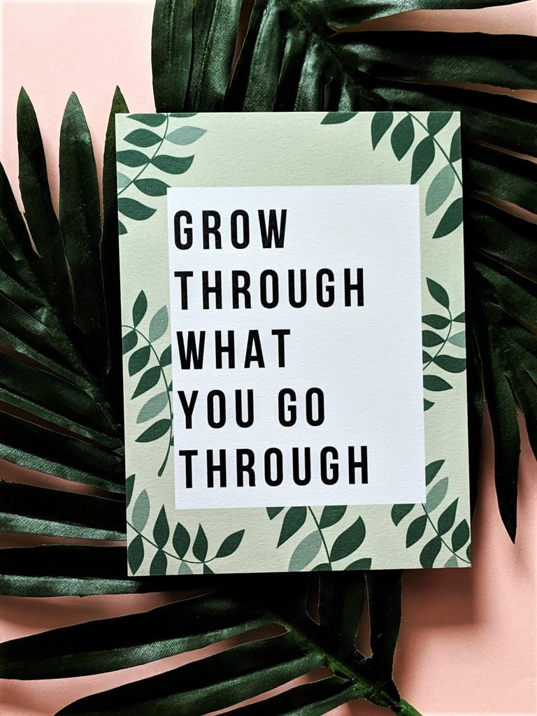 Grow Postcard