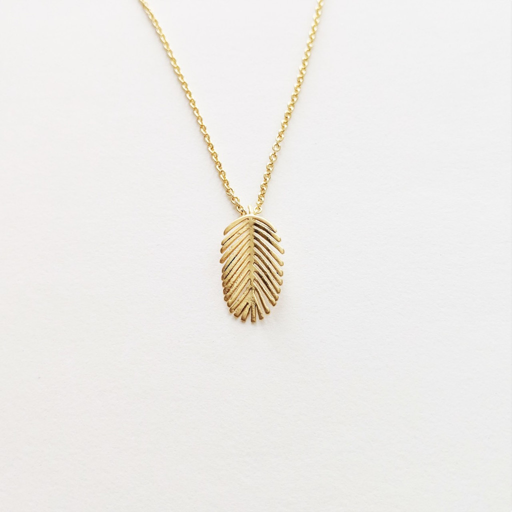SOLD OUT Banana Leaf Gold Necklace