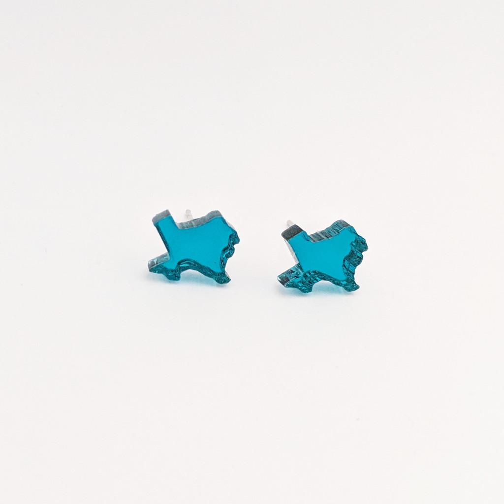 TX Acrylic Studs / Mirror Blue