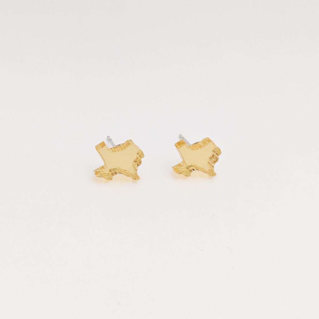 Texas Acrylic Studs /  Mirror Gold