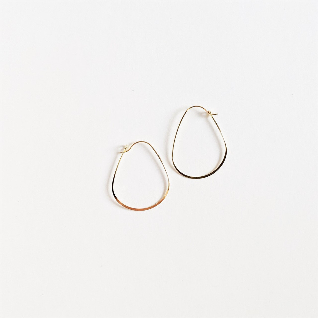 Elliptical Hoops - Gold Plated