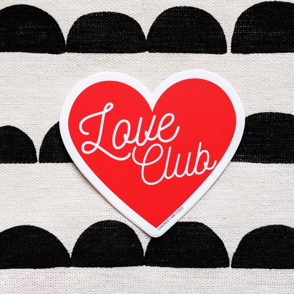 Love Club Heart Sticker