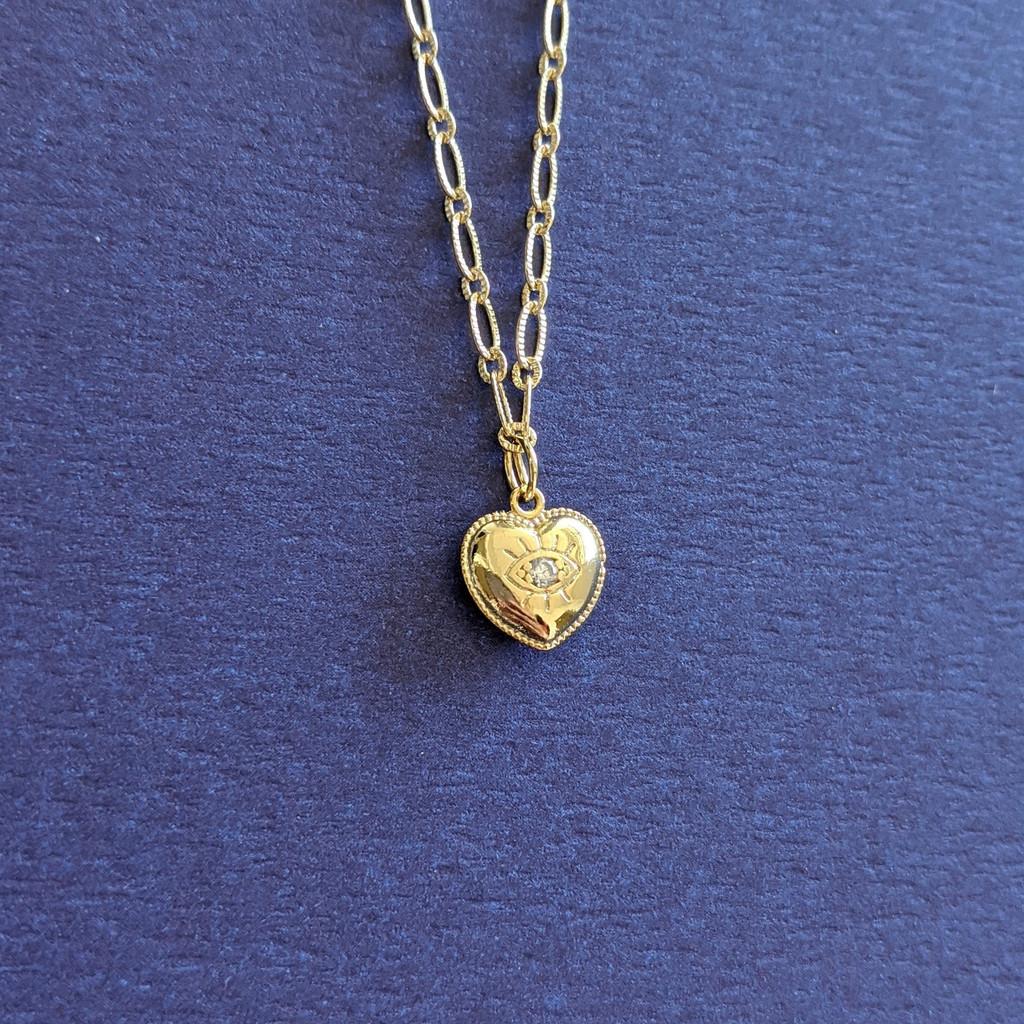 Heart Eye Necklace