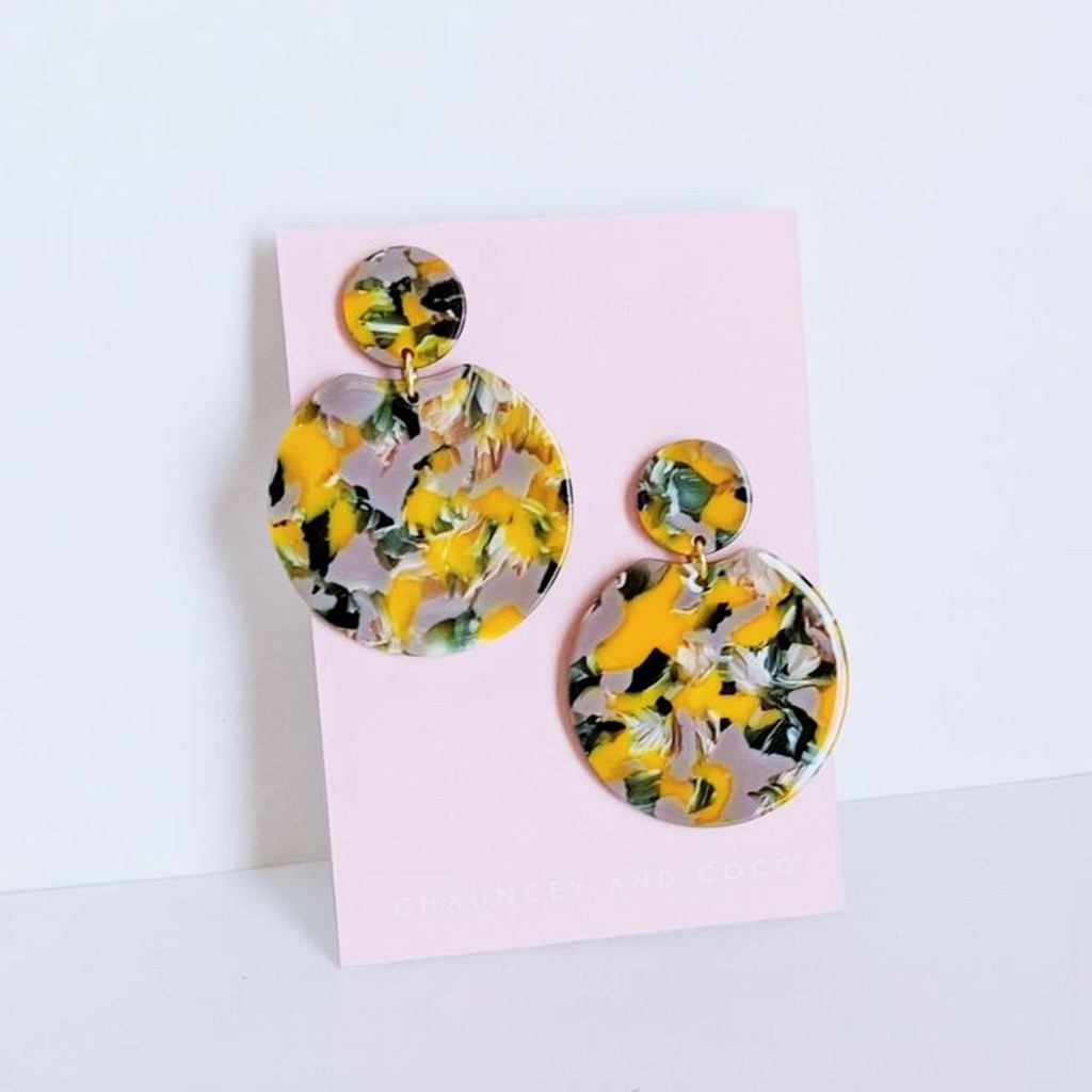 Poppy Field Abstract Earrings