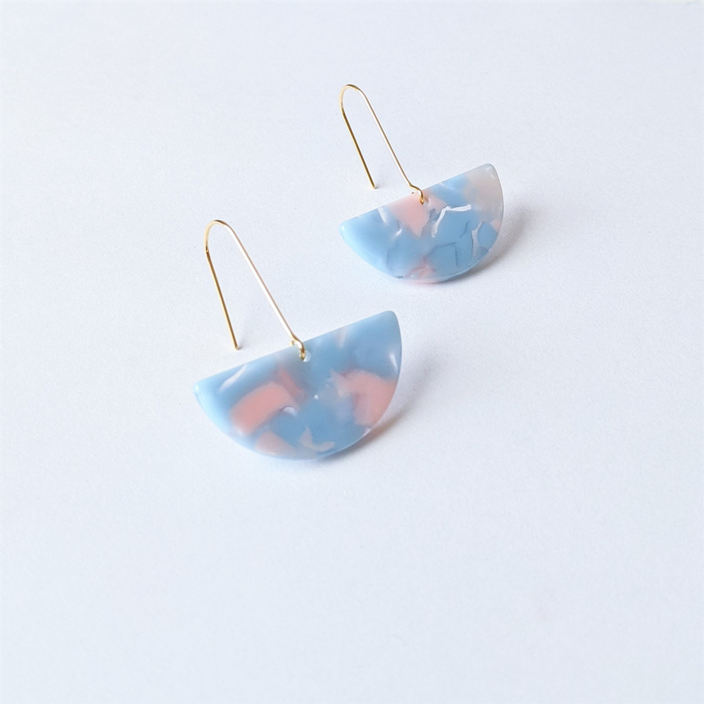 Cotton Candy Acrylic Earrings