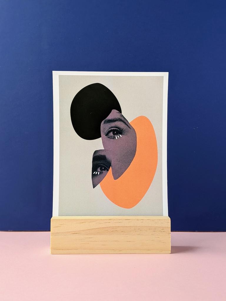 Portrait Collage No. 1 Art Print