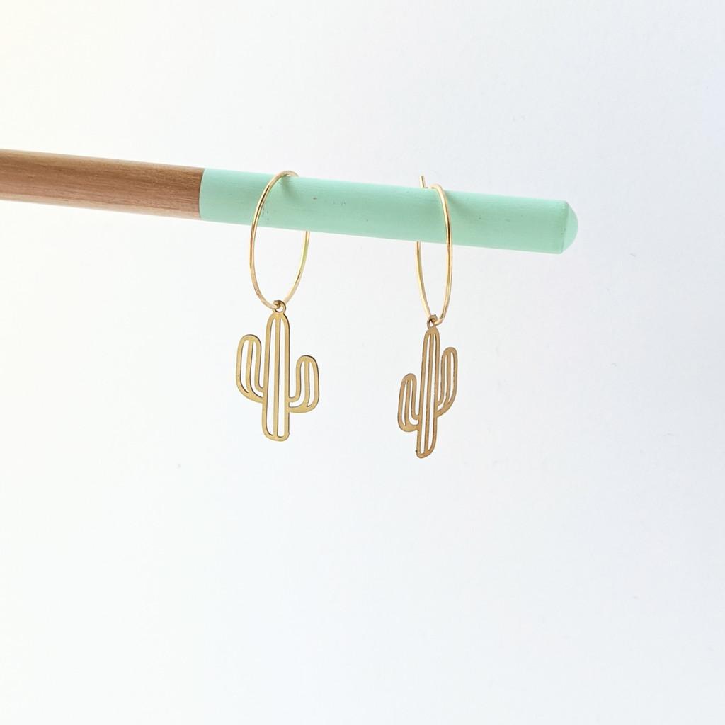 SOLD OUT Cactus Hoop Earrings