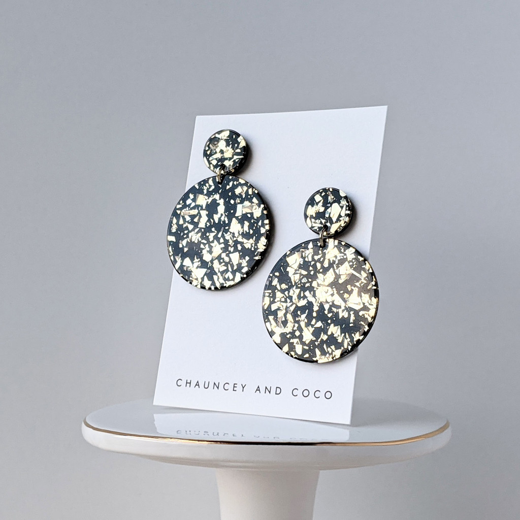 Dazzle holographic party acrylic earrings
