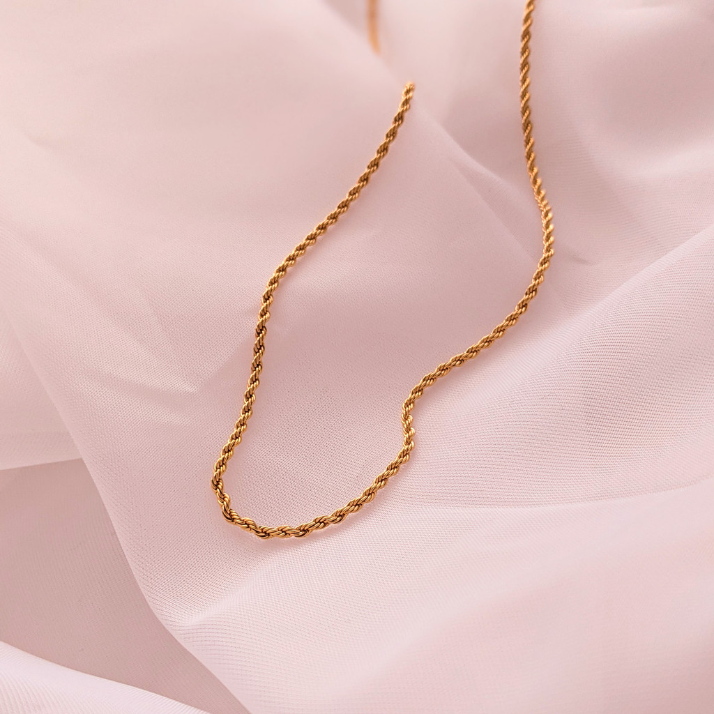 Layering Rope Gold Necklace