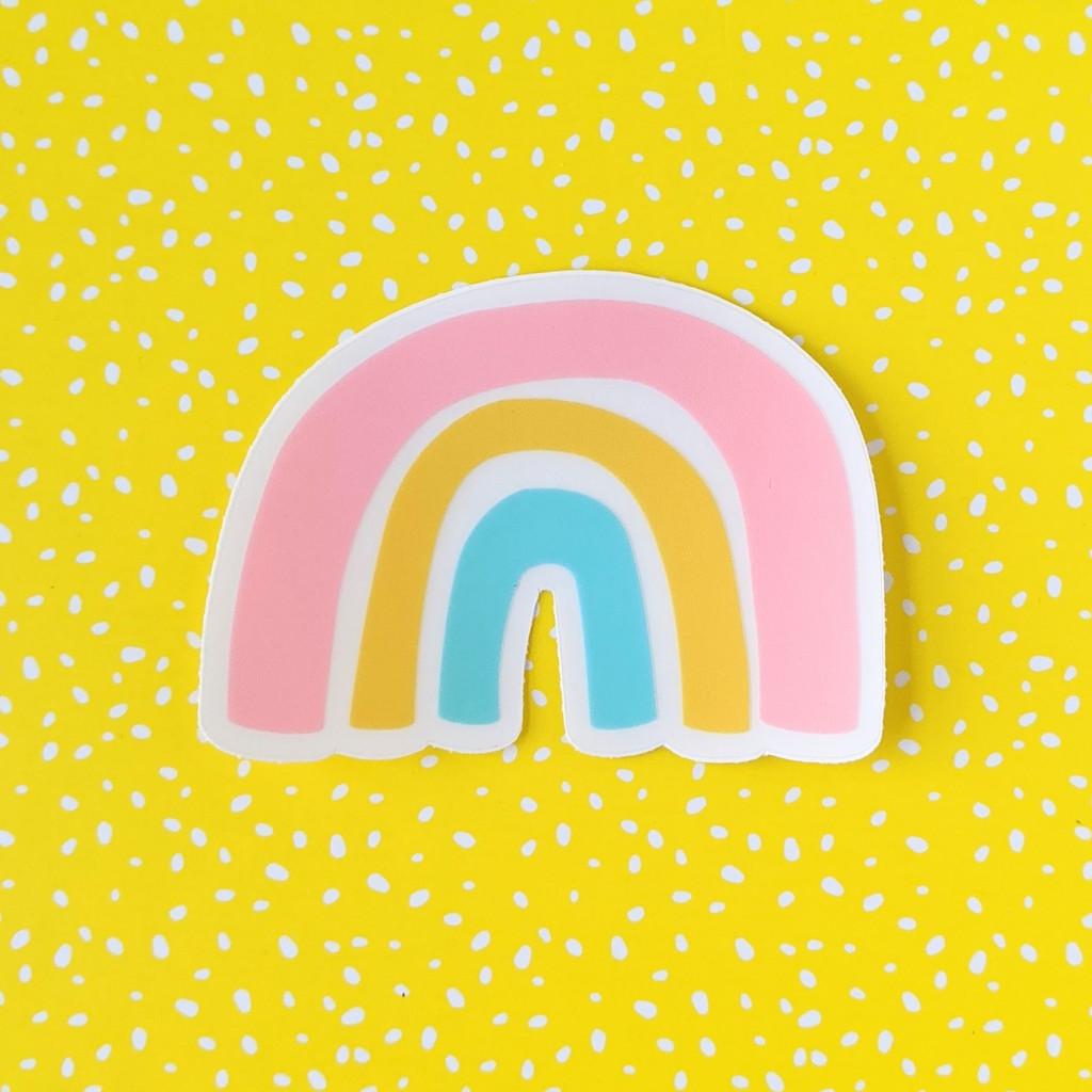Rainbow Sticker - Clear Vinyl