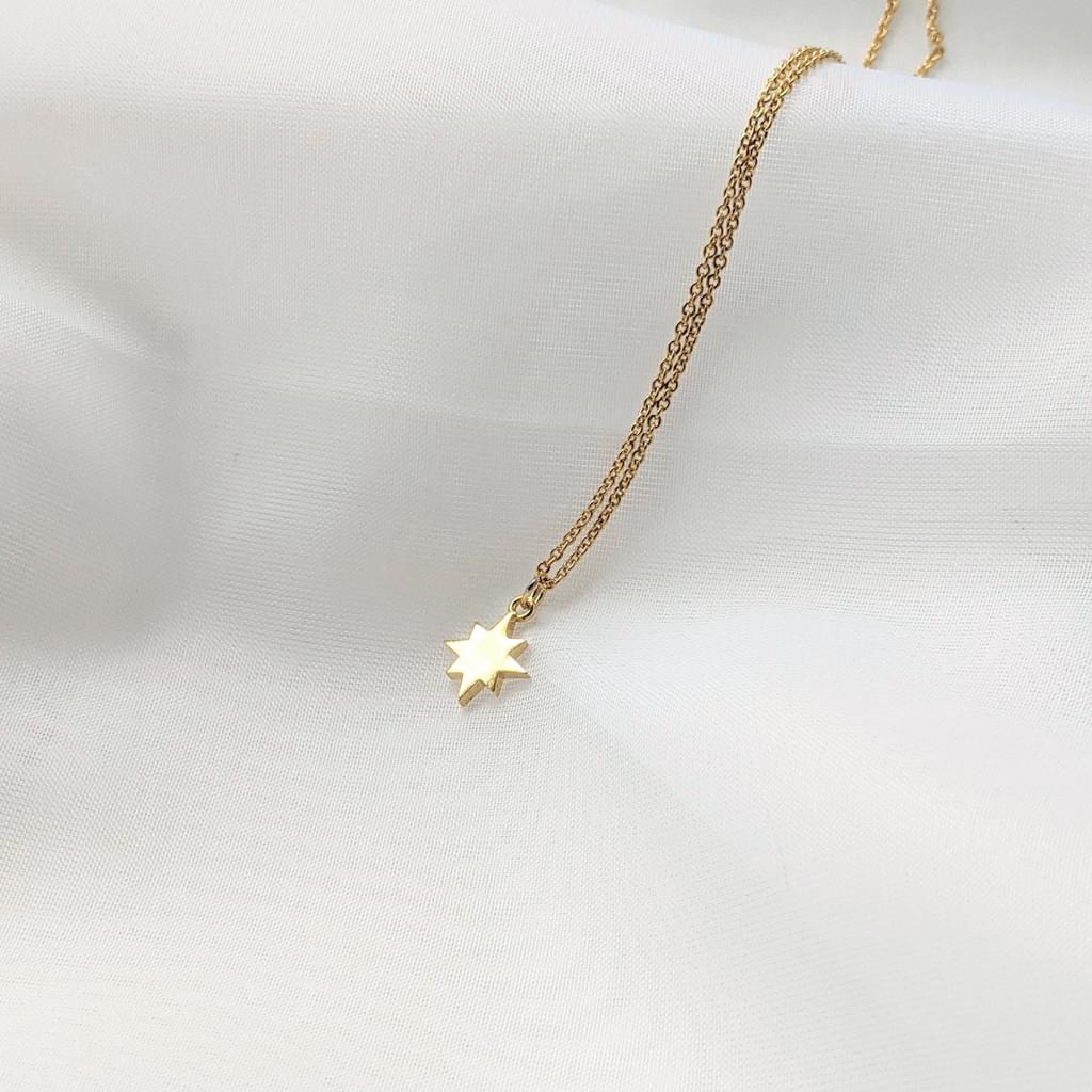 Polaris Star Dainty Gold Necklace