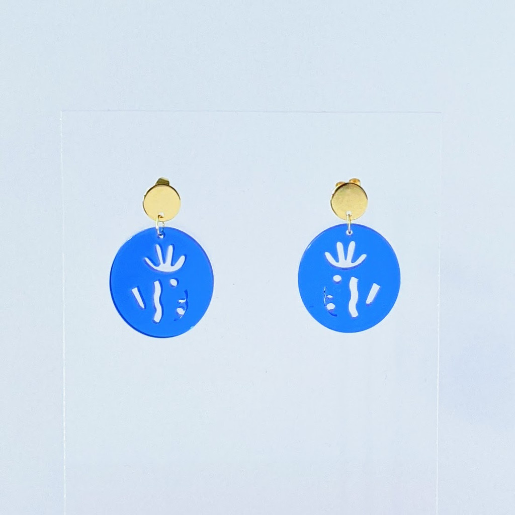 Art Class organic shapes acrylic earrings