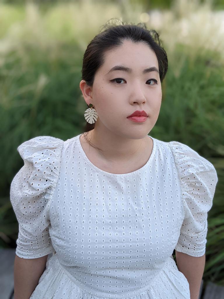 Monstera Earrings /  Eggshell White