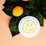 Lemonade Lesson smiley sticker
