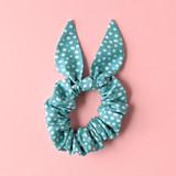 Robin's Egg scrunchie / bunny ears