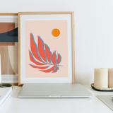 Composure single leaf wall decor art print