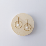 The Odessa Circular Drop Earrings - Gold Plated