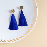 Corfu Tassel Earrings / Blue