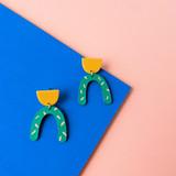Watermelon Sugar Arch Earrings