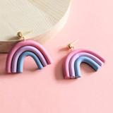 Gen Y Color Study clay arch earrings