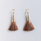 Tassel Cone Earrings - multiple colors