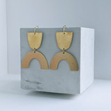 Voyage brass arch earrings