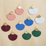Rise - brass & acrylic fan earrings