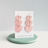 Layered Hearts acrylic earrings