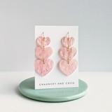 Layered Hearts acrylic earrings