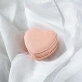 Travel Jewelry Case / Peach Heart