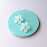 Daisy Drops acrylic earrings