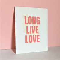Postcard /  Long Live Love