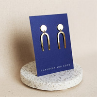 The Muse - Modern Gold Arch Earrings