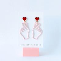 Love Ya k-pop hand earrings