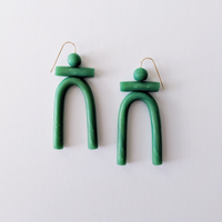 Jade Green Clay Totems
