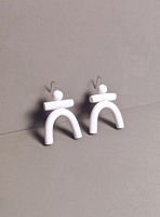 The Totem Clay Earrings