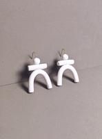 Totem Earrings / White
