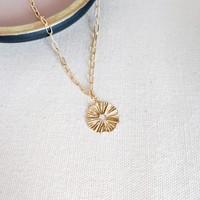 Wavy Textured Link Necklace