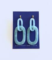 Acrylic Link Drop Earrings - Mint
