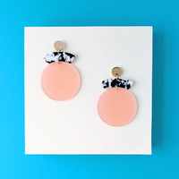 Ardour - Stacked Acrylic Earrings
