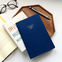 Bee Notebook / Navy Blue
