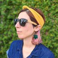 Flower Hoops / Translucent Green