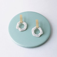 Monsoon organic shape acrylic earrings