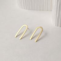 Great Lengths tall arch earrings