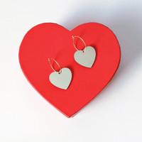 Mirror Heart Hoops / Red