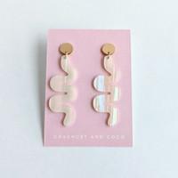 Wiggle Room squiggle earrings / White