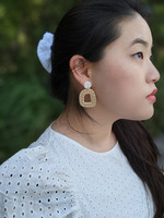 Room with a View / Woven Rattan Arch Earrings