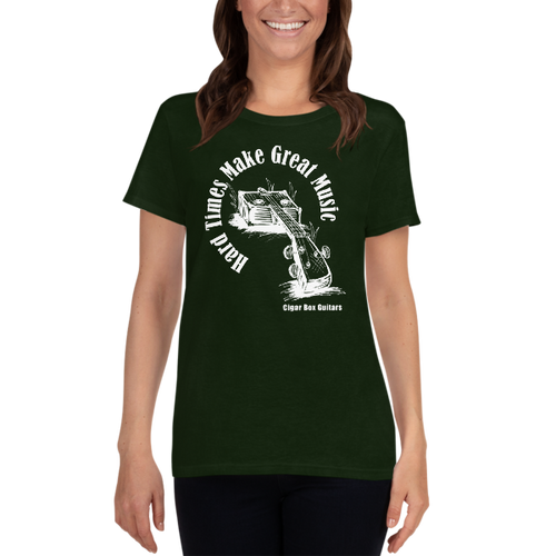 "'""Hard Times Make Great Music"" Women's short sleeve t-shirt"