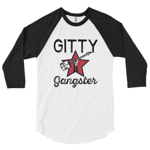 """Gitty Gangster"" 3/4 sleeve raglan shirt"