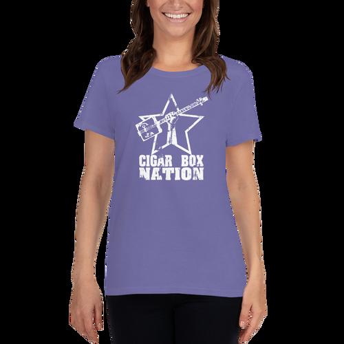 Cigar Box Nation Weathered Logo Women's Short-sleeve T-shirt